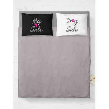 2 Pieces Letter Print Throw Bed Pillow Cover