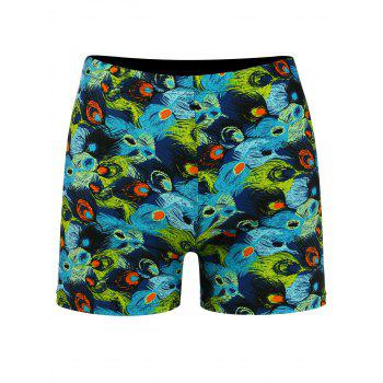 Quick Dry Feather Print Swimming Trunks