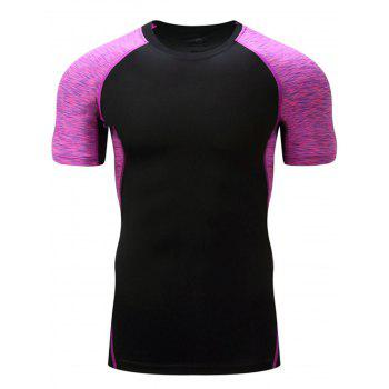 Color Block Muscle Raglan Sleeve T-shirt