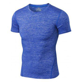 Space Dye Muscle Short Sleeve Activewear