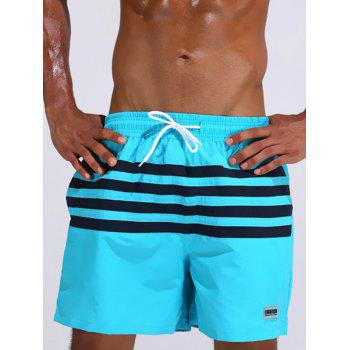 Loose Fitting Casual Stripe Board Shorts