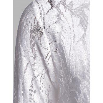 Flare Long Sleeve Lace Sheer Blouse - XL XL