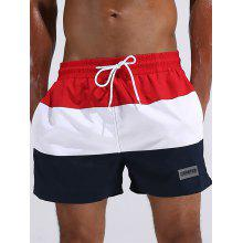 Color Block Quick Dry Board Shorts