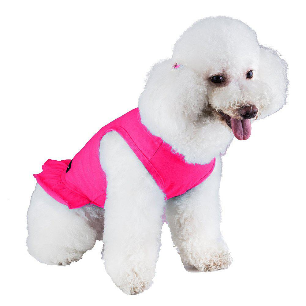 Spice Paws Cotton Pet Puppy Vest Robe - Rose foncé S