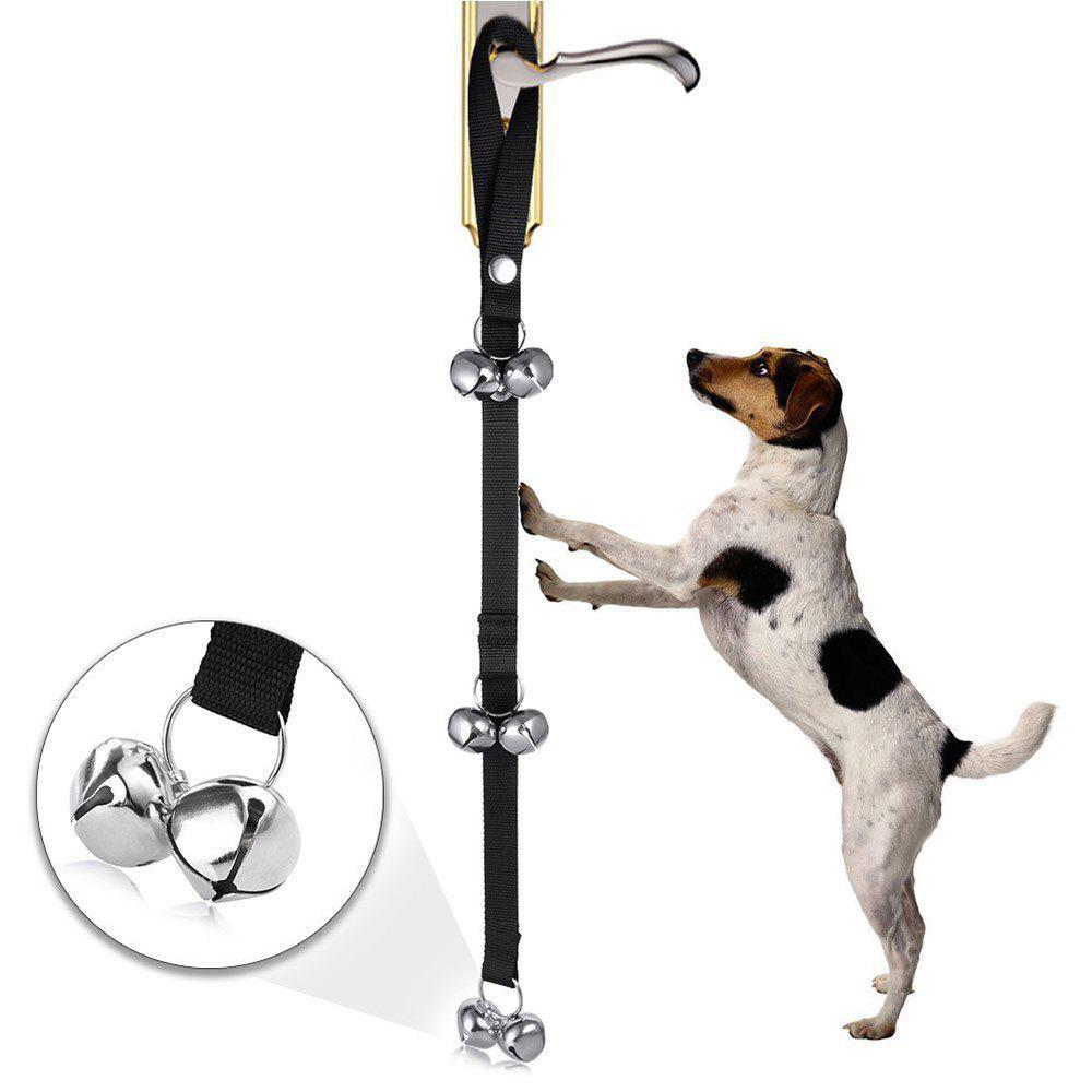Fournitures pour animaux de compagnie Dog House Training Door Bell Rope - Noir