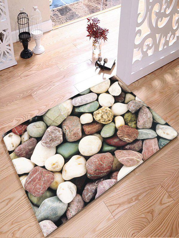 Antislip Flannel Bathroom Rug with Stone Print riveman car cigarette powered charging adapter charger w usb output for cell phone white