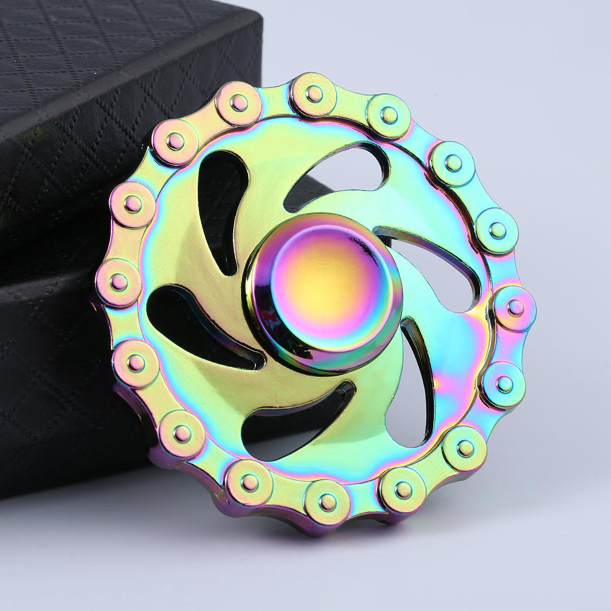 Anti Stress Rainbow Chain Wheel EDC Hand Spinner game darts legering metalen wapen model draaibaar darts cosplay props voor collectie fidget spinner hand anti stress