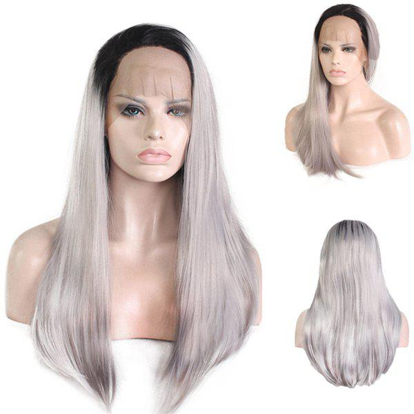 Colormix Free Part Long Straight Lace Front Synthetic Wig