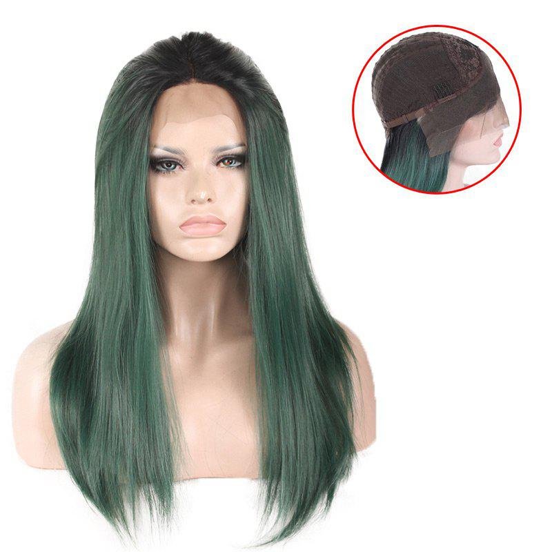 Colormix Long Free Part Silky Straight Lace Front Synthetic Wig 2015new long silky straight wig for women synthetic lace front hair african american wigs hear resistant fiber free shipping