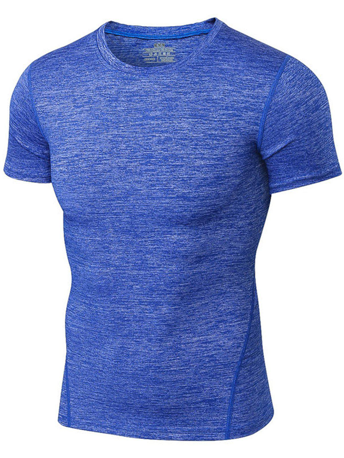 Space Dye Muscle Short Sleeve Activewear 214282505