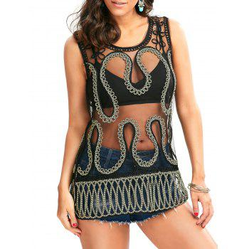 Lace Cover Up with Snake Shape Rope