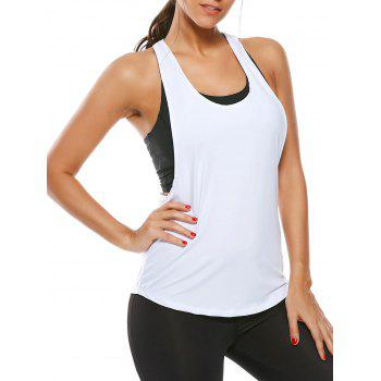 Racerback Workout Layering Running Vest - WHITE WHITE