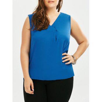 Plus Size V Neck High Low Tank Top