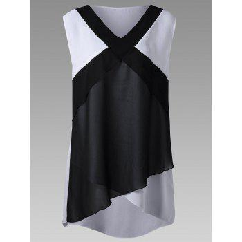 Plus Size Overlap High Low Hem Tank Top