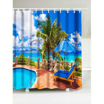 Sea Print Bathroom Water Resistant Shower Curtain