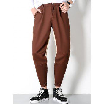 Two Tone Corduroy Panel Pants
