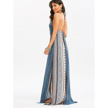 Bohemia Halter High Slit Maxi Dress