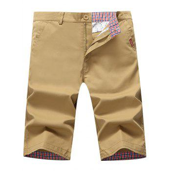 Zip Fly Pockets Chino Shorts