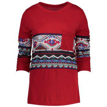 Pocket Patterned T-shirt