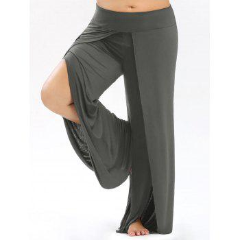 Plus Size Palazzo Pants with High Split