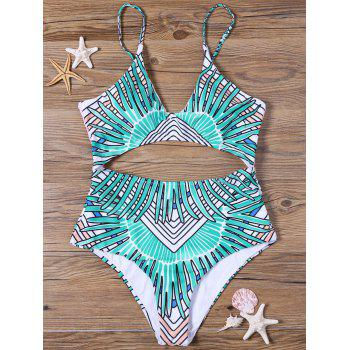 Tribal Cut Out Padded One-piece Swimsuit