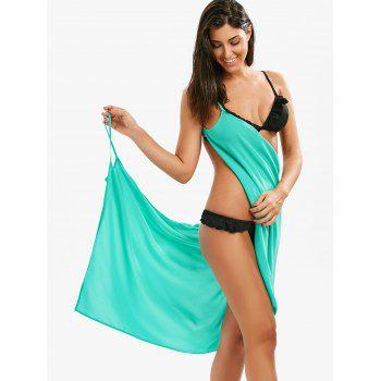 Chiffon Double-Deck Short Beach Cover Up