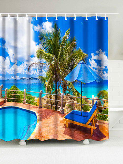 Sea Print Bathroom Water Resistant Shower Curtain Blue W Inch L Inch In Shower Curtains