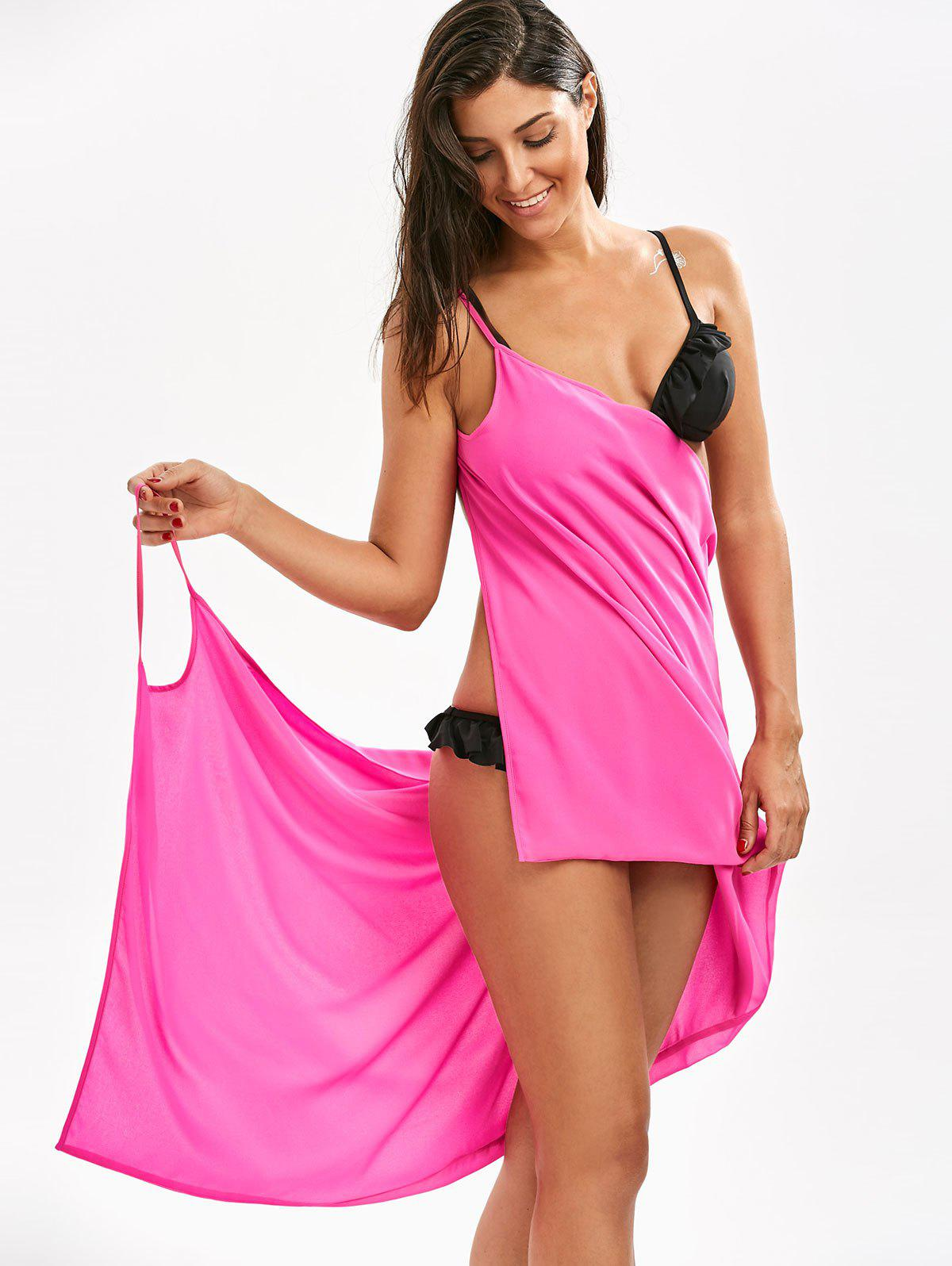Chiffon Double-Deck Short Beach Cover Up - Frutti de Tutti S
