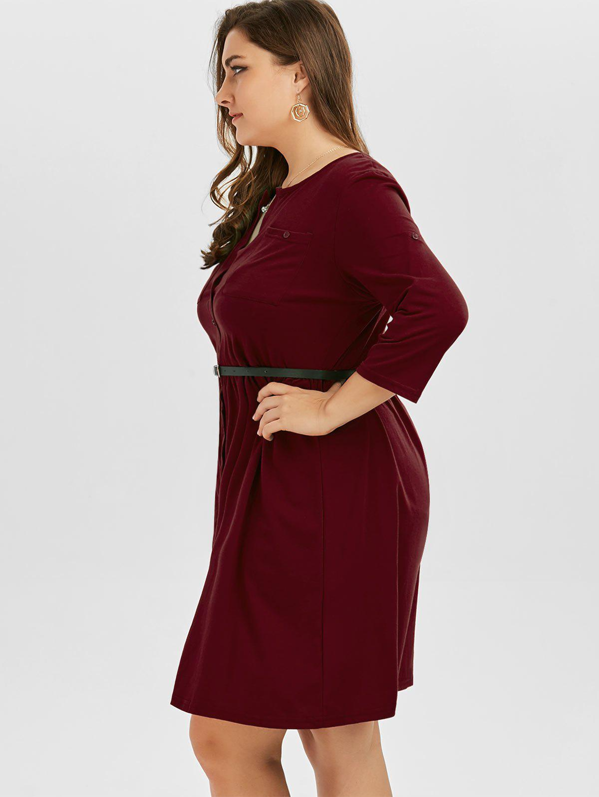 Robe Taille Up - Rouge vineux 4XL
