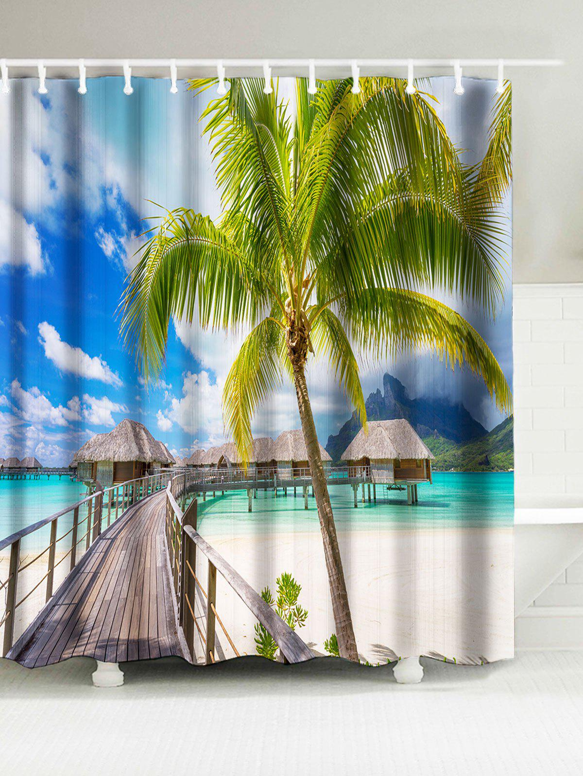 Sea Home Print Water Resistant Fabric Shower Curtain цена 2017