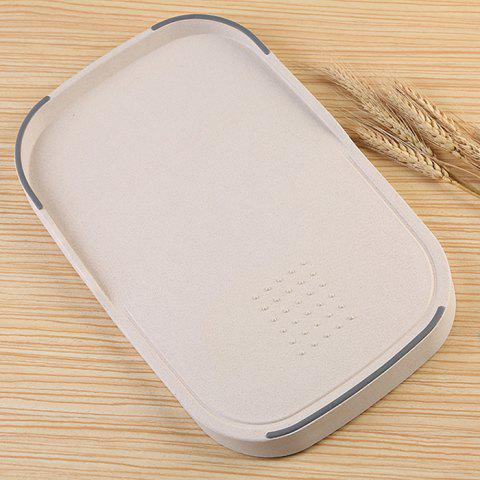 Creative Wheat Straw Food Vegetables Material Cutting Board - BEIGE