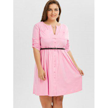 Robe Taille Up - ROSE PÂLE 2XL