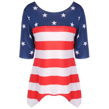 Stars and Stripes Asymmetrical Backless Top