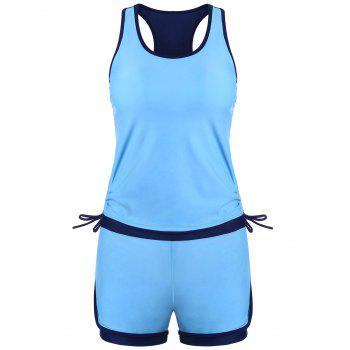 Racerback Sports High Waisted Tankini Set