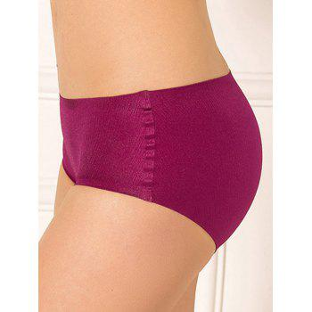 Full Coverage Plus Size Lingerie Briefs Panties - RED RED
