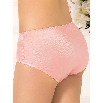 Full Coverage Plus Size Lingerie Briefs Panties - PINK 2XL