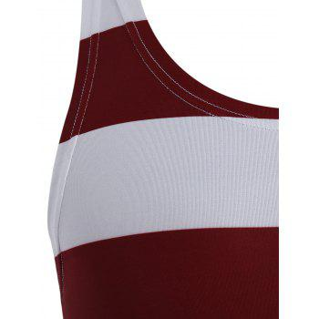 American Flag Patriotic Muscle Racerback Tank Top - COLORMIX S