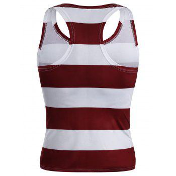 American Flag Patriotic Muscle Racerback Tank Top - COLORMIX M