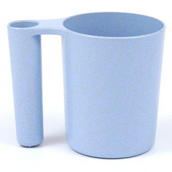 Wash Gargle Wheat Straw Tooth Mug Toothbrush Cup - BLUE BLUE