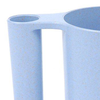 Wash Gargle Wheat Straw Tooth Mug Toothbrush Cup - BLUE