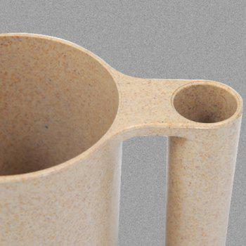 Wash Gargle Wheat Straw Tooth Mug Toothbrush Cup -  BEIGE