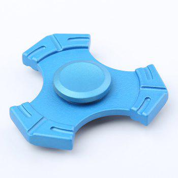 Focus Toy Zinc Alloy Tri-bar Fidget Hand Spinner - LAKE BLUE