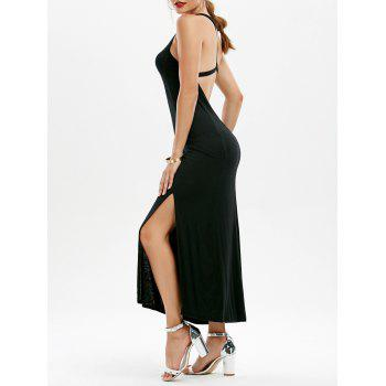 Slit Open Back Long Dress