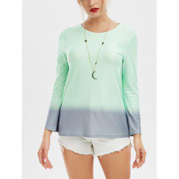 Ombre Long Sleeve Casual Tee