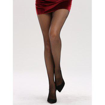 See Through Hollow Out Fishnet Tights -  BLACK GREY
