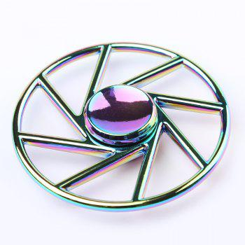 Forme de la roue Colorful Metal Fidget Spinner - multicolorcolore