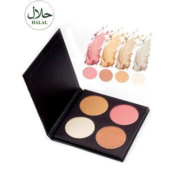 Halal Soft Mineral Highlighter Powder Palette
