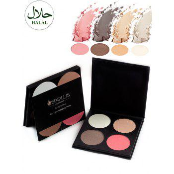 Halal 4 Colors Portable Highlighting Palette
