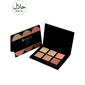 Halal 6 Colours Multifunction Cream Concealer Palette