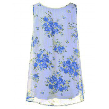 Plus Size Tiny Floral Overlap Tank Top - XL XL